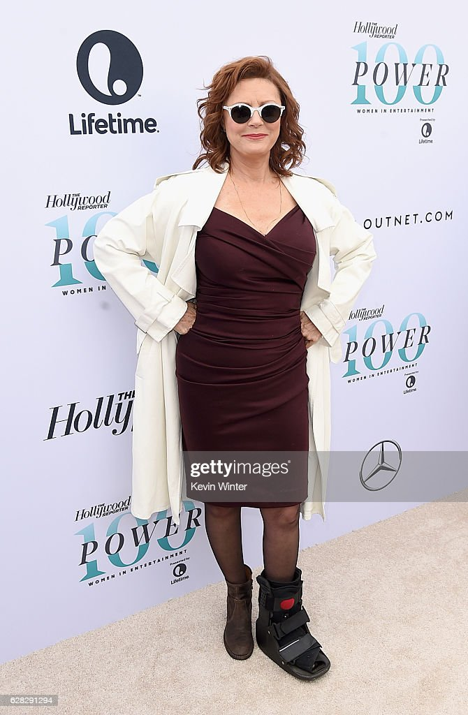 Actress Susan Sarandon attends The Hollywood Reporter's Annual Women in Entertainment Breakfast in Los Angeles at Milk Studios on December 7, 2016 in Hollywood, California.