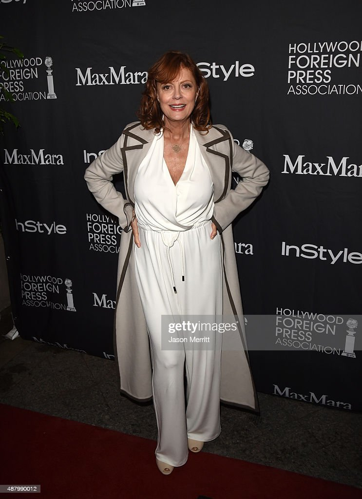 Actress Susan Sarandon attends the InStyle & HFPA party during the 2015 Toronto International Film Festival at the Windsor Arms Hotel on September 12, 2015 in Toronto, Canada.