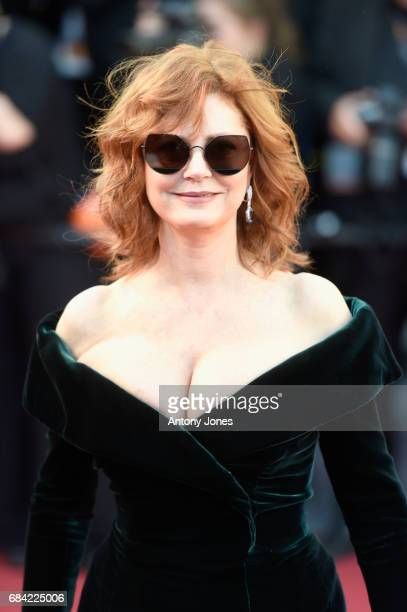 Actress Susan Sarandon attends the Ismael's Ghosts screening and Opening Gala during the 70th annual Cannes Film Festival at Palais des Festivals on...