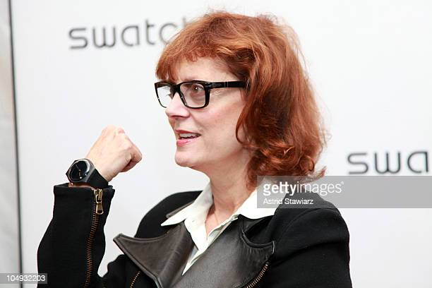 Actress Susan Sarandon attends the launch of the Swatch 'New Gents Collection' at the Gansevoort Park Avenue on October 6 2010 in New York City
