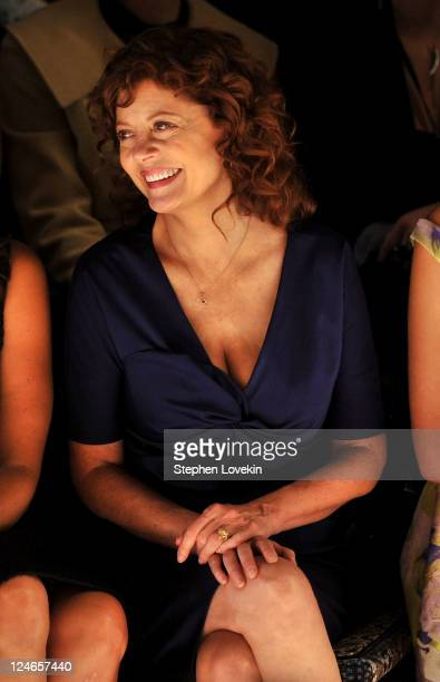 Actress Susan Sarandon attends the Lela Rose Spring 2012 fashion show during Mercedes-Benz Fashion Week at The Studio at Lincoln Center on September...
