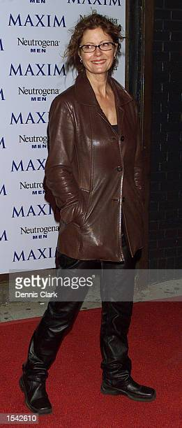 Actress Susan Sarandon attends the Maxim Magazine party in honor of photographer Nigel Parry May 15 2002 at Lot 61 in New York City
