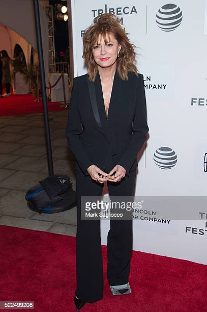 """Actress Susan Sarandon attends """"The Meddler"""" premiere during the 2016 Tribeca Film Festival at John Zuccotti Theater at BMCC Tribeca Performing Arts..."""