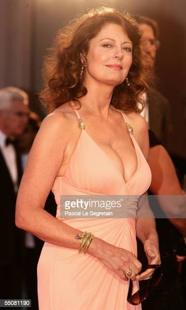 Actress Susan Sarandon attends the premiere for the in competition film Romance And Cigarettes at the Palazzo del Cinema on the seventh day of the...