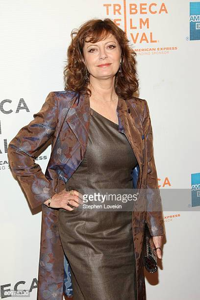 Actress Susan Sarandon attends the premiere of Speed Racer during the 2008 Tribeca Film Festival on May 3 2008 in New York City