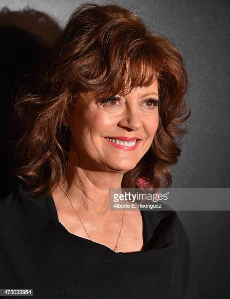 Actress Susan Sarandon attends the screening of Lifetime's Miniseries 'The Secret Life Of Marilyn Monroe at The Theatre At The Ace Hotel on May 11...