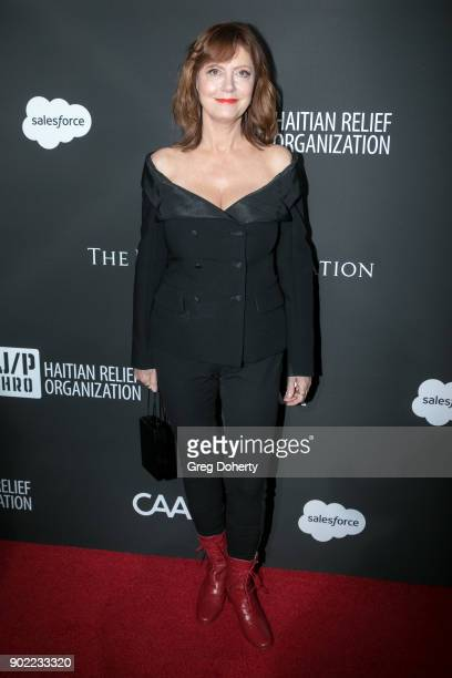 Actress Susan Sarandon attends the SEAN PENN J/P HRO GALA A Gala Dinner to Benefit J/P Haitian Relief Organization and a Coalition of Disaster Relief...
