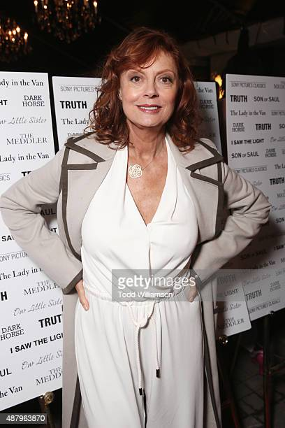 Actress Susan Sarandon attends the SPC Toronto Party during the 2015 Toronto International Film Festival at Creme Brasserie on September 12 2015 in...