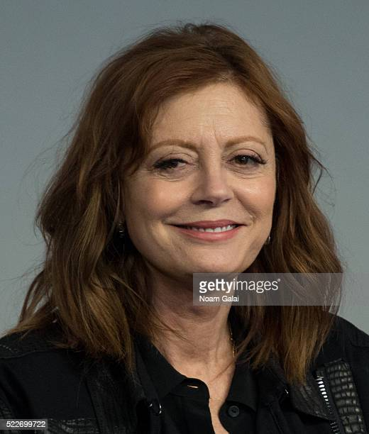 """Actress Susan Sarandon attends the """"The Meddler"""" panel at Apple Store Soho on April 20, 2016 in New York City."""
