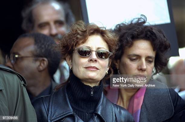 Actress Susan Sarandon is among demonstrators outside Police Headquarters protesting the shooting of Amadou Diallo by four police officers She was...