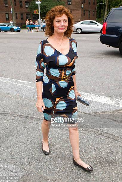 Actress Susan Sarandon is seen around Lincoln Center during Spring 2012 MercedesBenz Fashion Week on September 11 2011 in New York City