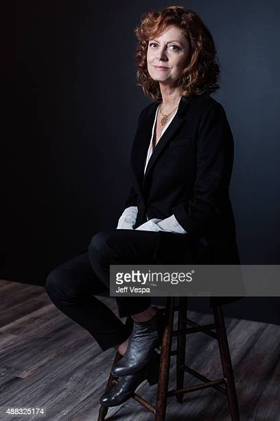 Actress Susan Sarandon of The Meddler poses for a portrait at the 2015 Toronto Film Festival at the TIFF Bell Lightbox on September 15 2015 in...