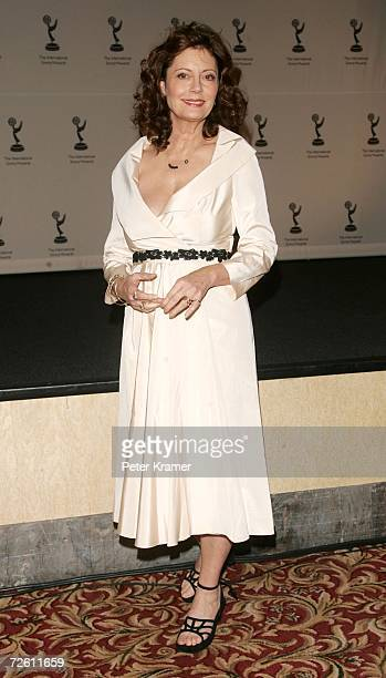 Actress Susan Sarandon poses in the press room of the 34th International Emmy Awards at The New York Hilton on November 20, 2006 in New York City.