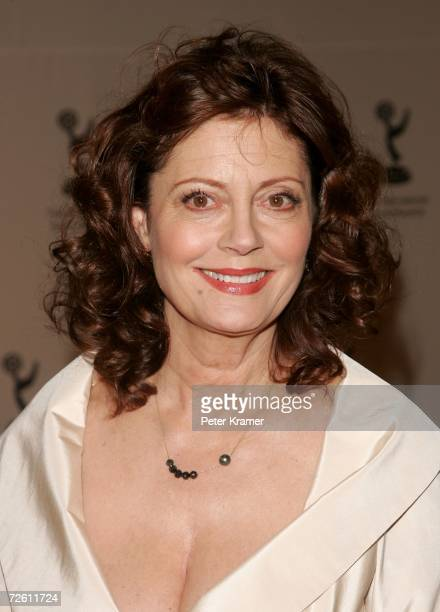 Actress Susan Sarandon poses in the press room of the 34th International Emmy Awards at The New York Hilton on November 20 2006 in New York City