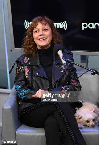 Actress Susan Sarandon visits EW channel at SiriusXM Studios to discuss crime comedy film The Jesus Rolls on February 26 2020 in New York City