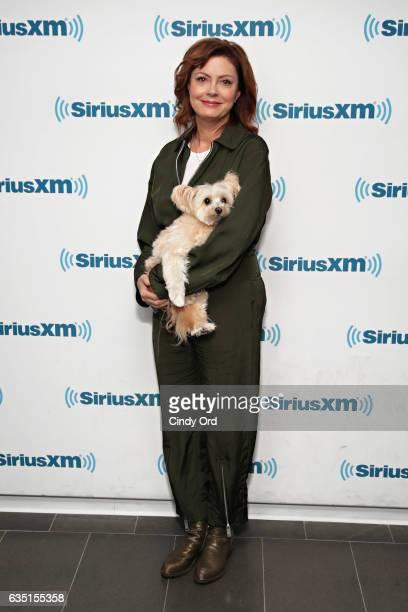 Actress Susan Sarandon visits the SiriusXM Studios on February 13 2017 in New York City