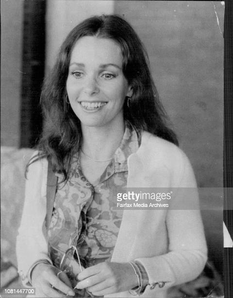 Actress Susan Strasberg pictured on her arrival in Sydney by air today from Bali She starred in the 'Diary of Anne Frank' and will appear in the TV...