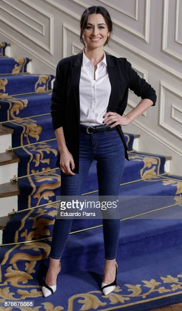 Actress Susana Cordoba attends the 'Traicion' TV sries presentation at Valtierra studios on November 20 2017 in Madrid Spain