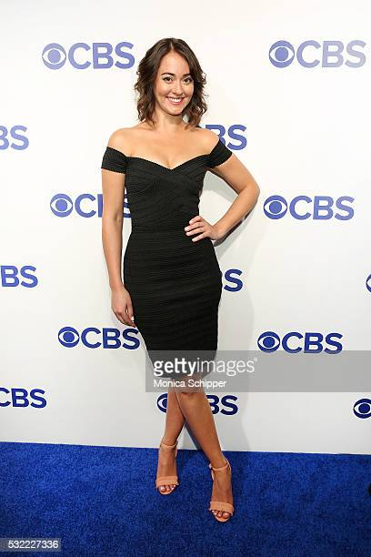 Actress Susannah Fielding of CBS television series The Great Indoors attends the 2016 CBS Upfront at Oak Room on May 18 2016 in New York City
