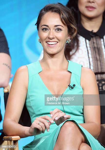 Actress Susannah Fielding speaks onstage at 'The Great Indoors' panel discussion during the CBS portion of the 2016 Television Critics Association...