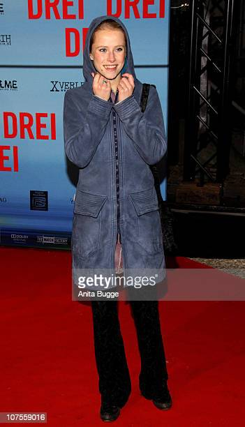 Actress Susanne Bormann attends the Drei Germany premiere at the Delphi movie theater on December 13 2010 in Berlin Germany