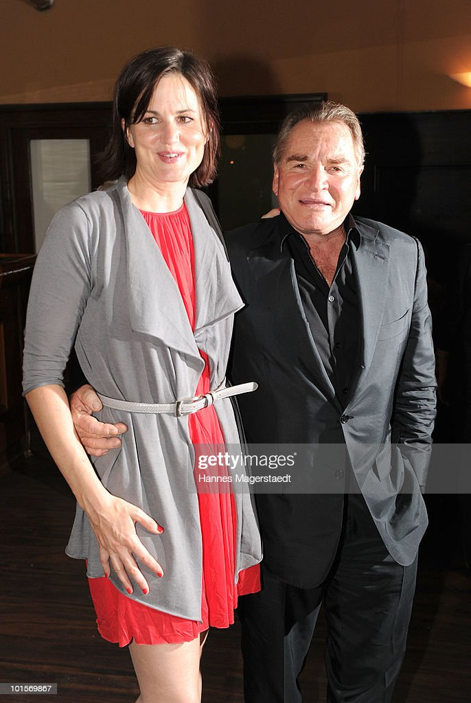 Actress Susanne Kellermann and Fritz Wepper attend the premiere of 'Puppenspiel' at the Forum Kino on June 2, 2010 in Munich, Germany.