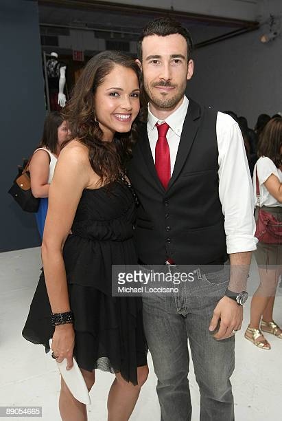 Actress Susie Castillo and husband Matthew Leslie attend the Charlotte Russe Fall 2009 launch event at Openhouse Gallery on July 15 2009 in New York...