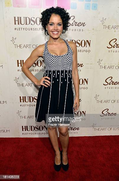 Actress Susie Castillo arrives at Hudson Jeans Presents The Art of Elysium's Genesis Celebrating Emerging Artists at Siren Cube on September 20, 2013...