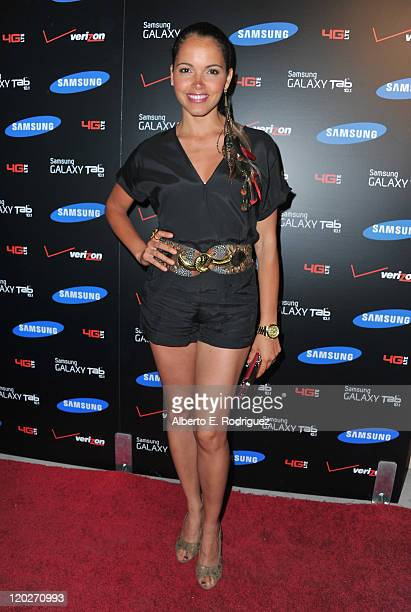 Actress Susie Castillo arrives to the Samsung and Verizon Launch of The Samsung Galaxy Tab 101 on August 2 2011 in West Hollywood California