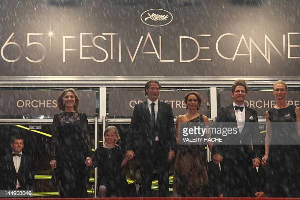Actress Susse Wold actress Danish actor Mads Mikkelsen Swedish actress Alexandra Rapaport Danish director Thomas Vinterberg and producer Sisse Graum...