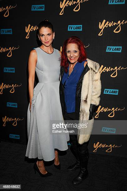Actress Sutton Foster and Patricia Field attend the premiere of TV Land's 'Younger' at Landmark Sunshine Cinema on March 31 2015 in New York City