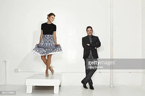 Actress Sutton Foster and writer producer Darren Star are photographed for Emmy Magazine on February 10 in Los Angeles California PUBLISHED IMAGE