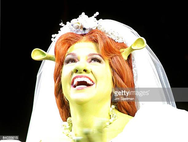 """Actress Sutton Foster attends the opening night of """"Shrek The Musical"""" on Broadway at the Broadway Theatre on December 14, 2008 in New York City."""