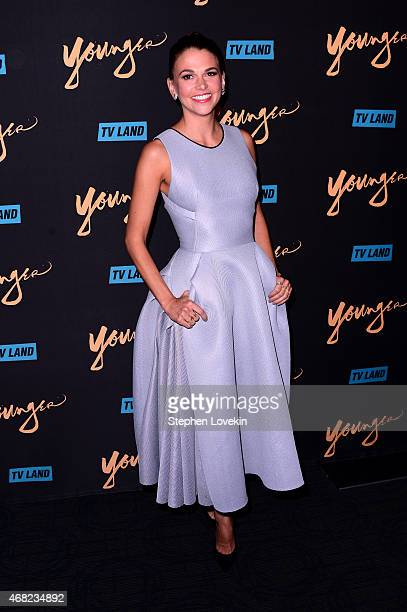 Actress Sutton Foster attends the premiere of TV Land's 'Younger' at Landmark Sunshine Cinema on March 31 2015 in New York City