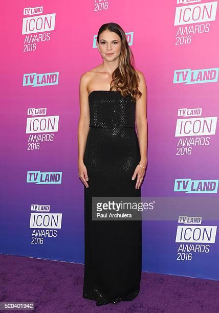 Actress Sutton Foster attends the TV Land Icon Awards at The Barker Hanger on April 10 2016 in Santa Monica California