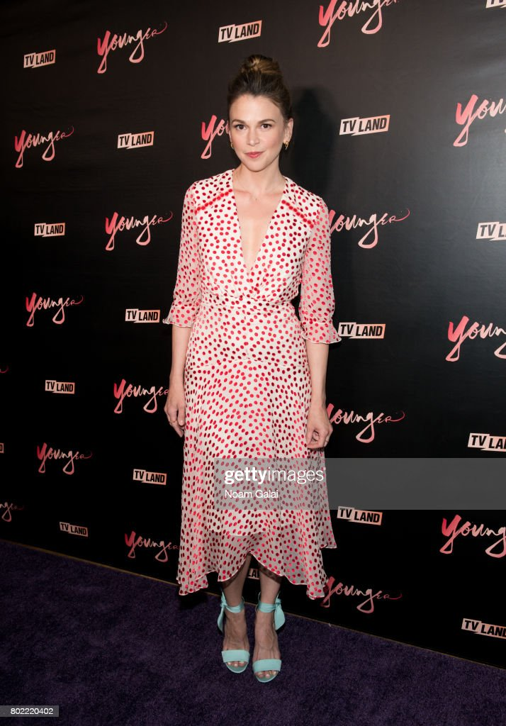 Actress Sutton Foster attends the 'Younger' season four premiere party on June 27, 2017 in New York City.
