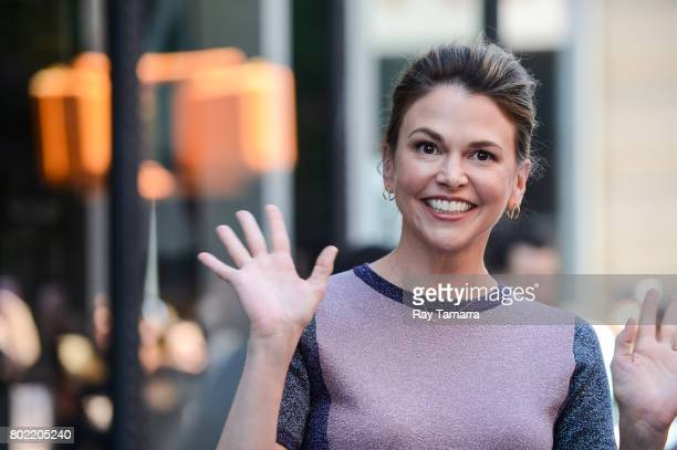 Actress Sutton Foster enters the 'AOL Build' taping at the AOL Studios on June 27 2017 in New York City