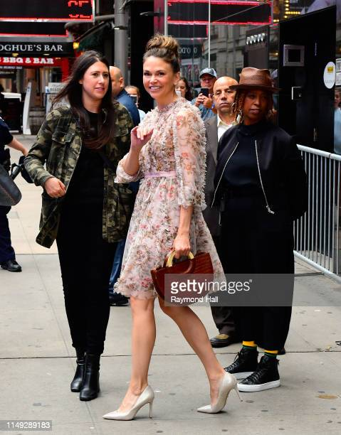 """Actress Sutton Foster is seen outside """"Good Morning America"""" on June 11, 2019 in New York City."""