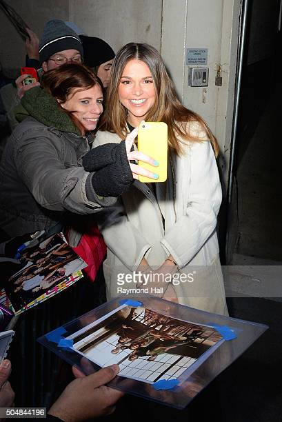 Actress Sutton Foster is seen outside 'Huff Post Live' on January 13 2016 in New York City