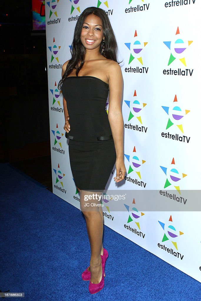 Actress Suveria Mota attends the launch party for Estrella TV news anchor: Myrka Dellanos at The Conga Room at L.A. Live on May 1, 2013 in Los Angeles, California.
