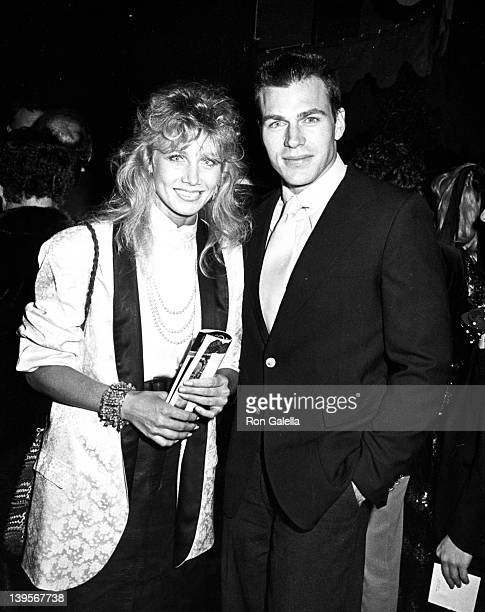 Actress Suzanne Barnes and actor JonErik Hexum attend the opening of Sugar Babies on January 31 1984 at the Pantages Theater in Hollywood California