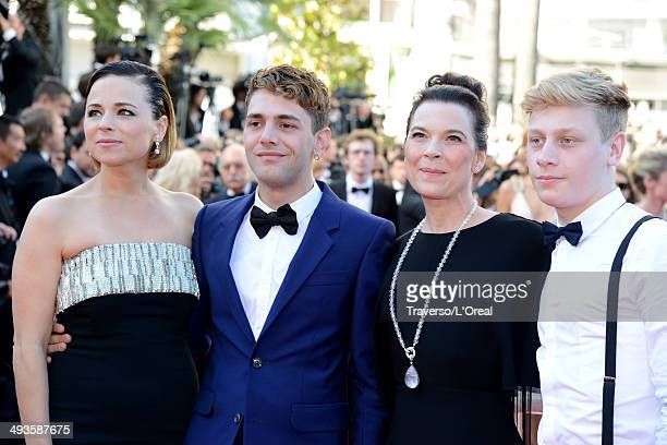 Actress Suzanne Clement director Xavier Dolan actors Anne Dorval and AntoineOlivier Pilon attend the Closing Ceremony and 'A Fistful of Dollars'...