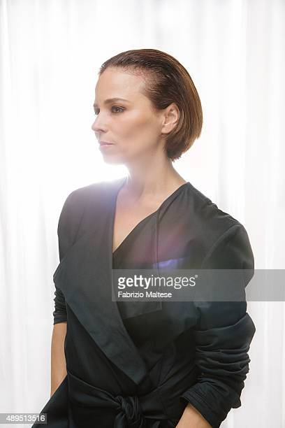 Actress Suzanne Clement is photographed for Self Assignment on September 5 2015 in Venice Italy