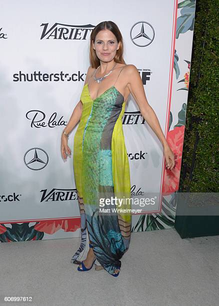 Actress Suzanne Cryer attends Variety and Women in Film's PreEmmy Celebration at Gracias Madre on September 16 2016 in West Hollywood California