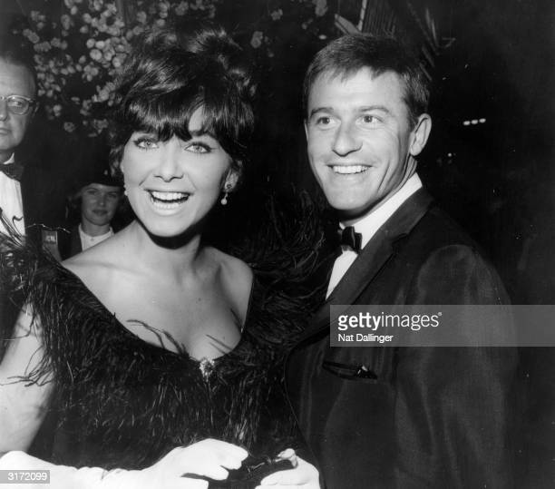 Actress Suzanne Pleshette steps out with Roddy McDowall to the premiere of 'Mary Poppins' This is Pleshette's first public appearance since her...