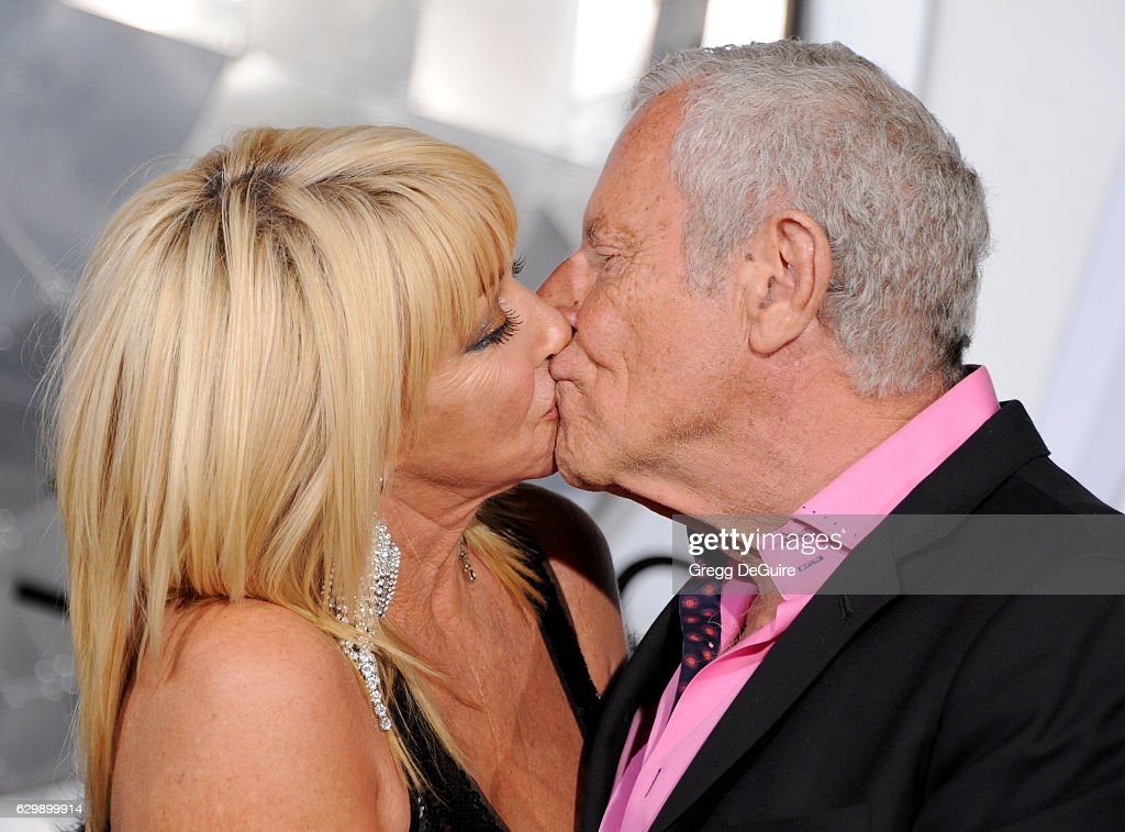 Actress Suzanne Somers and husband Alan Hamel arrive at the premiere of Columbia Pictures' 'Passengers' at Regency Village Theatre on December 14, 2016 in Westwood, California.