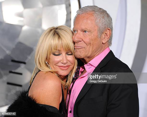 Actress Suzanne Somers and husband Alan Hamel arrive at the premiere of Columbia Pictures' Passengers at Regency Village Theatre on December 14 2016...