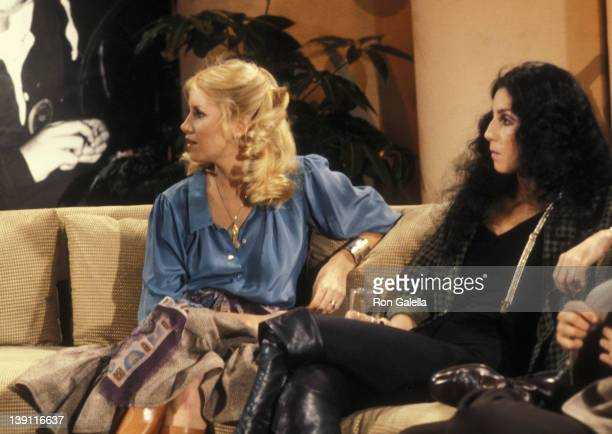 Actress Suzanne Somers and singer Cher participate in the United Cerebral Palsy's 'Weekend with the Stars' Telelthon on February 4 1978 in Los...
