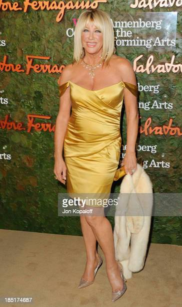 Actress Suzanne Somers arrives at the Wallis Annenberg Center For Performing Arts Inaugural Gala at Wallis Annenberg Center for the Performing Arts...
