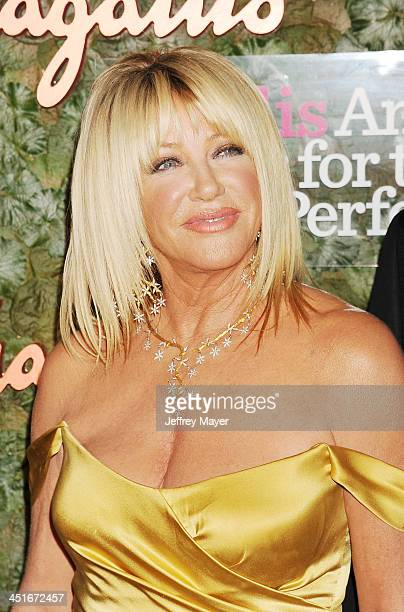 Actress Suzanne Somers arrives at the Wallis Annenberg Center For The Performing Arts Inaugural Gala at Wallis Annenberg Center for the Performing...